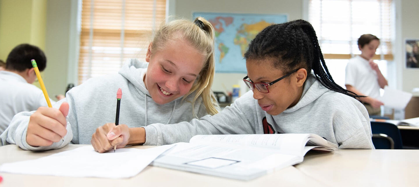 Middle School students at CES in Maryland