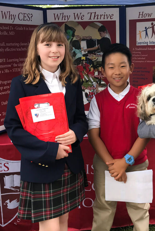 Students at Admission Event for Christ Episcopal School