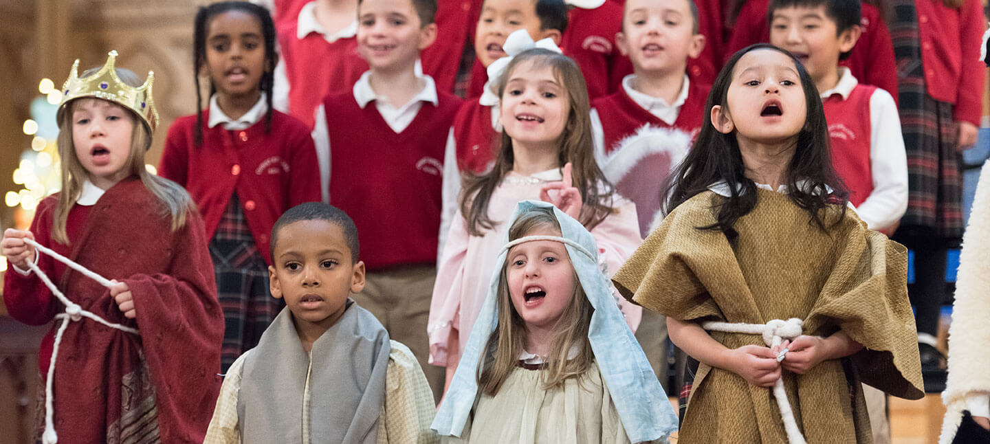 Nativity singing at Christ Episcoal School in Maryland