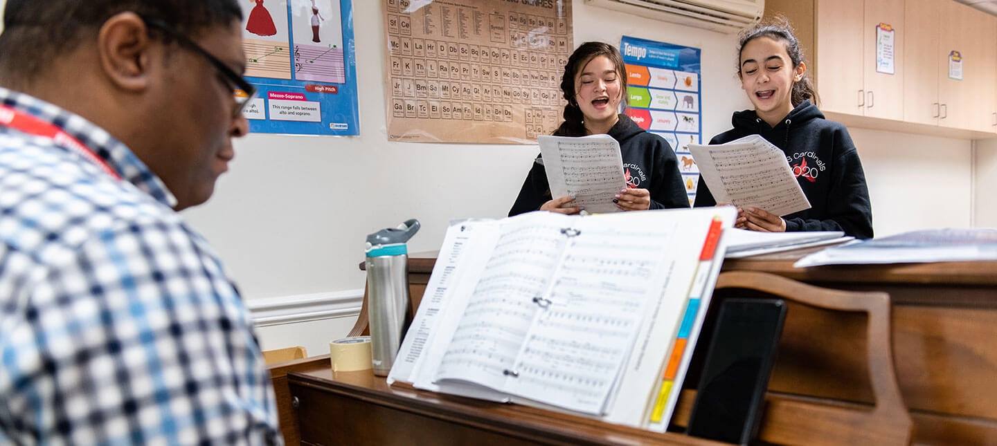 Music Class at Christ Episcopal School in Maryland