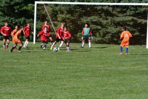 Middle School Boys soccer team wins against Barnesville School